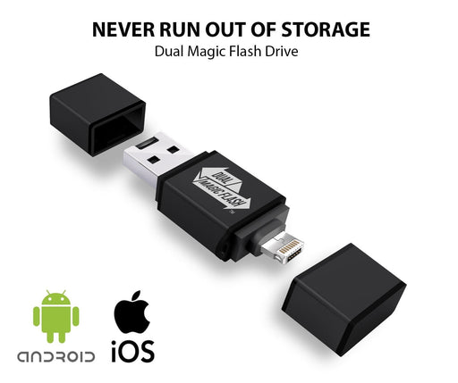 Dual Magic Flash - w/16GB Mini SSD for iOS & Android