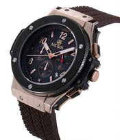 Men's Watches Chronograph Military Sports Watches Waterproof Gold Steel Case Big Dial Silicone Luxury Watches
