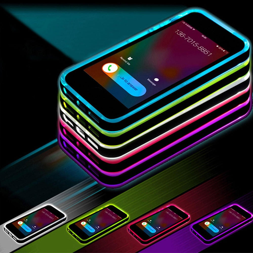 iphone led case led shockproof multi color apple iphone 6 6s 11984