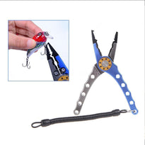 Aluminum Fishing Pliers Braid Cutter Hook Remover Tackle Tool with Pouch