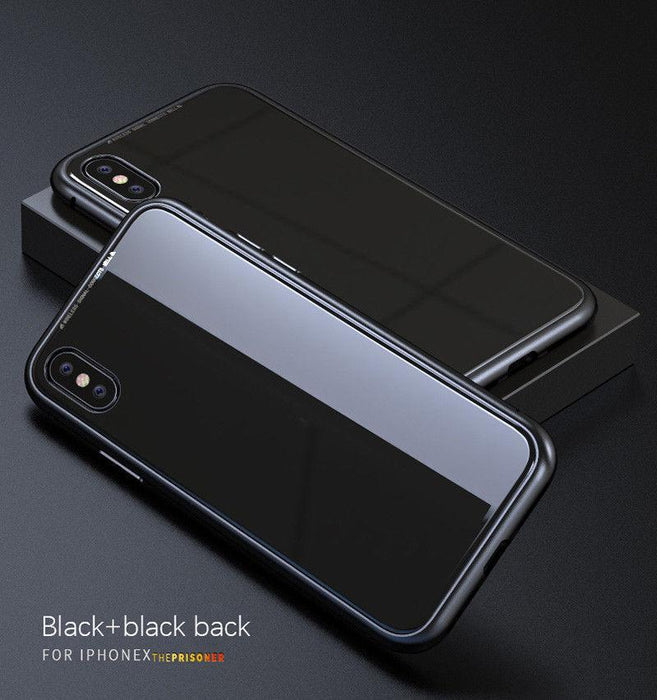 Magneto | Magnetic Absorption Luxury Metal Case w/Tempered Glass Cover -iPhone X