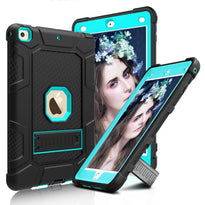 Shockproof Rubber Hard Kickstand Case -iPad 9.7