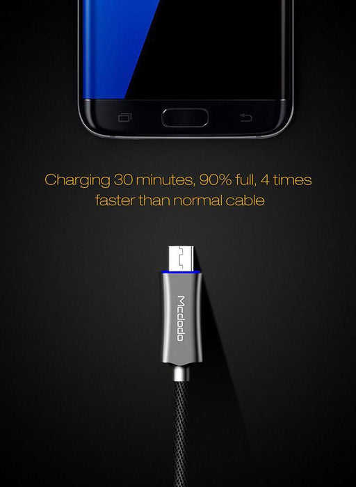 MCDODO - USB Type-C Auto Disconnect Smart Rapid Charging Cable - Android
