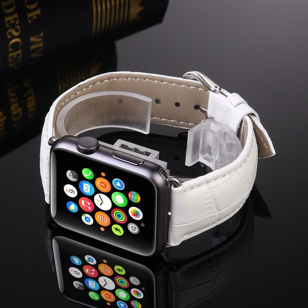 Genuine Leather Buckle Wrist Watch Strap for Apple Watch Unisex