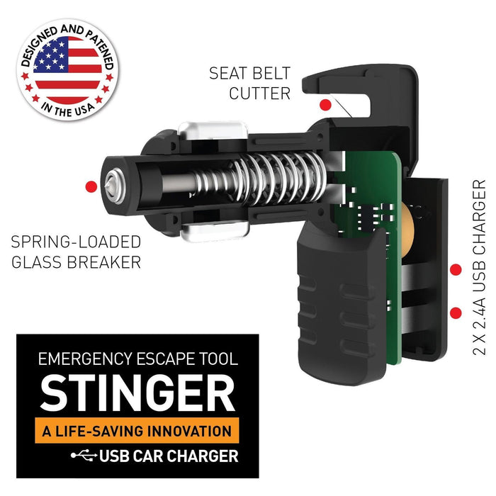 Ztylus Stinger USB Emergency Escape Tool: Life-Saving Rescue Car Charger