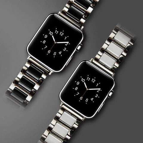 Stainless Steel & Ceramics Bracelet Band - Apple Watch