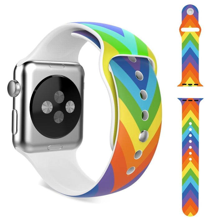 Rainbow V Silicone Strap Band for Apple Watch