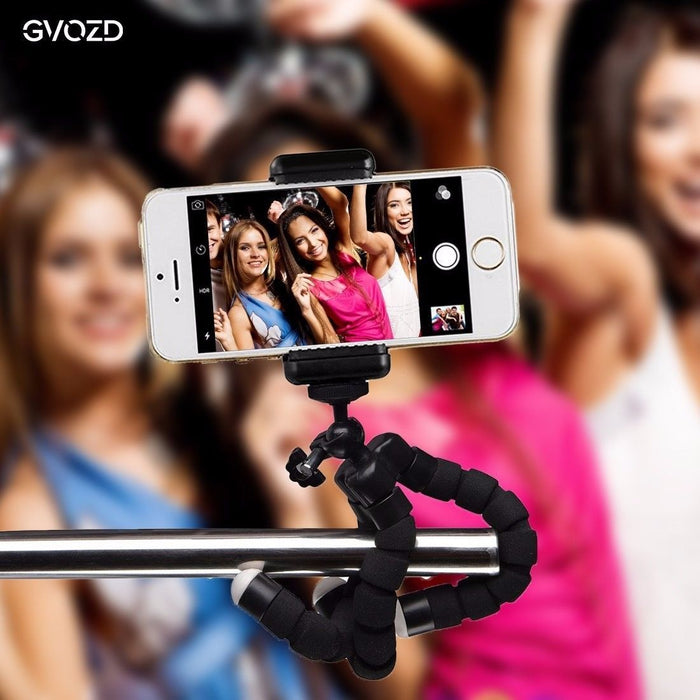 Mini iPhone/Samsung Holder & Adjustable Tripod, Bluetooth Remote