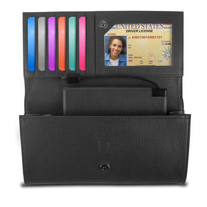 Halo Women's Hack-Proof Power Wallet 3000 w/ RFID Protection