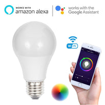 Wifi Smart LED Bulb 6.5W E26 Wireless Remote Control Dimmable RGB For Alexa/Google Assistant
