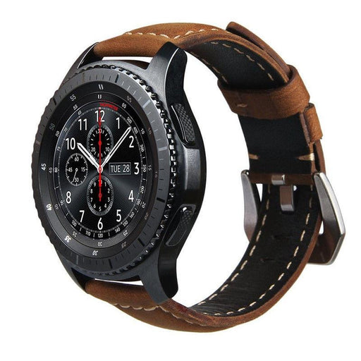 Retro Genuine Leather Watch Band - Gear S3 Frontier/Classic
