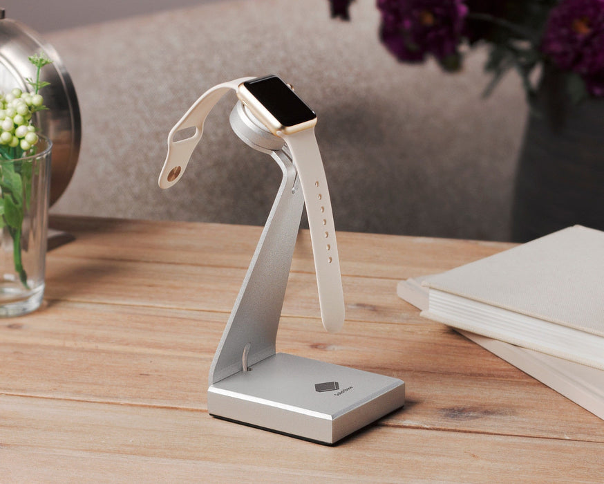 Solid Base Aluminum Charging Dock Holder Desktop Stand for Apple Watch iWatch