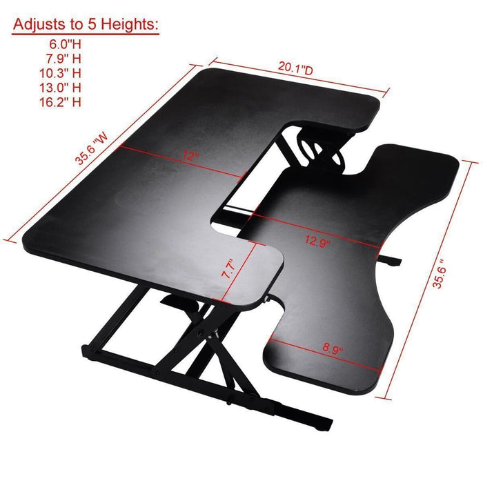 STAND SMART - Ergonomic Height Adjustable Sit Stand Desk