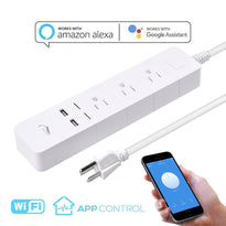 Wifi Smart Power Strip Socket Remote Control Surge Protector For Alexa/Google Assistant