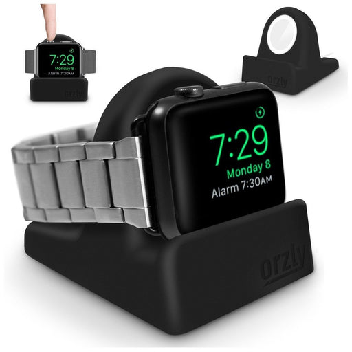 Night Stand Holder for Apple Watch, iWatch Charge Docking Station, Stylish Black
