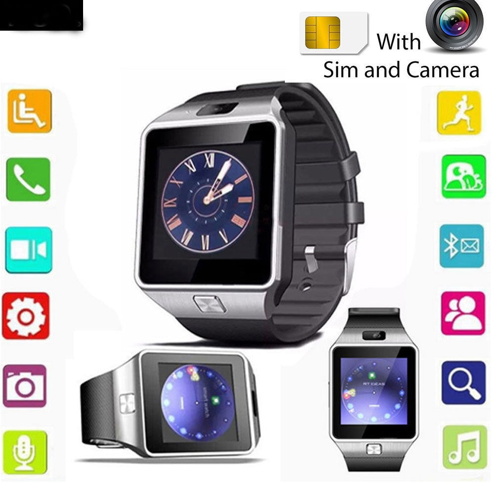 Camera Sim Card For Android Phones dz09 bluetooth smart watch phone camera sim card for android ios phones