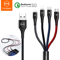 The ONE - MCDODO 4-in-1 Lightning, Micro USB, Type-C Charging Cable  for iPhone, Samsung, Universal
