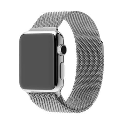 Apple Watch Band, Milanese Magnetic Loop Stainless Steel - Silver