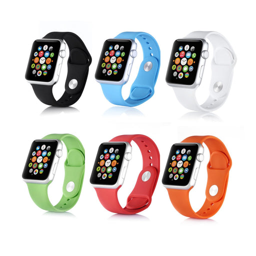 Silicone Watch Band Strap Bracelet Fitness Replacement for Apple Watch iWatch