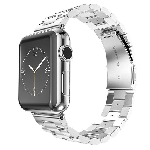 Stainless Steel Band with Clasp for Apple Watch - Silver