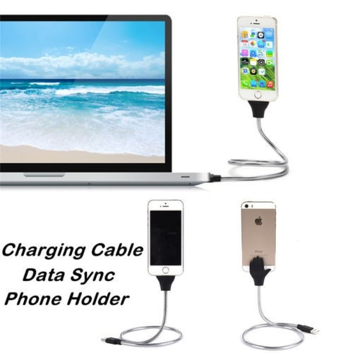 Amazing Handy Flexible Mobile Phone Charging Cable Stand