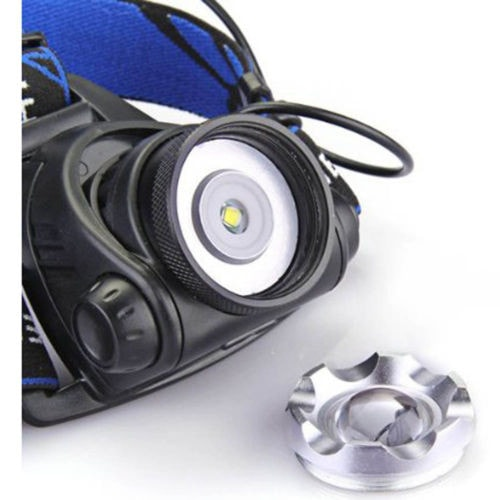 CREE LED Headlamp - 2000 Lumen Adjustable Light + Car and Home Charger