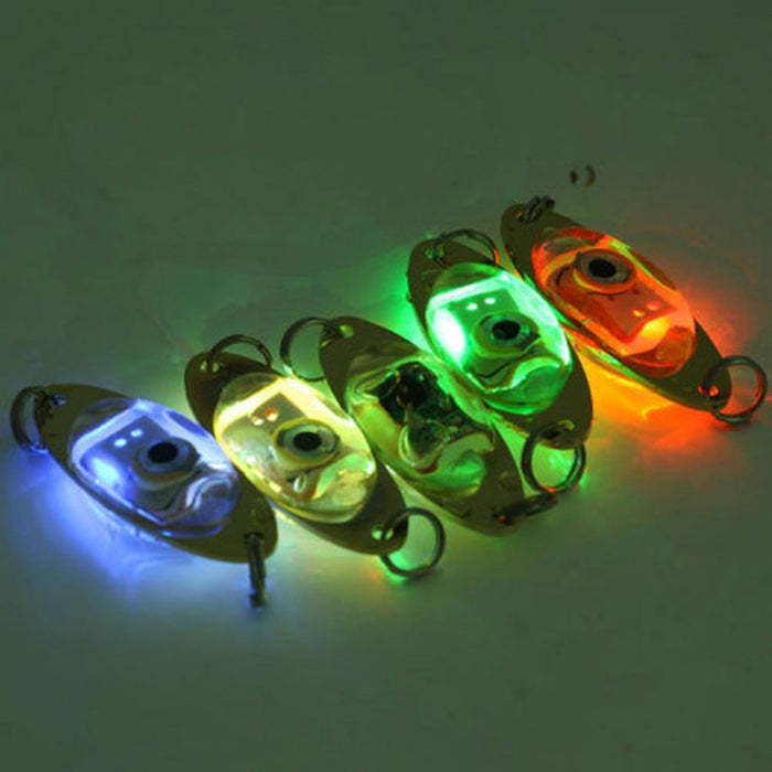 Flash Eye Shape LED Deep Drop Underwater Fishing Squid  Lure - 5 pcs