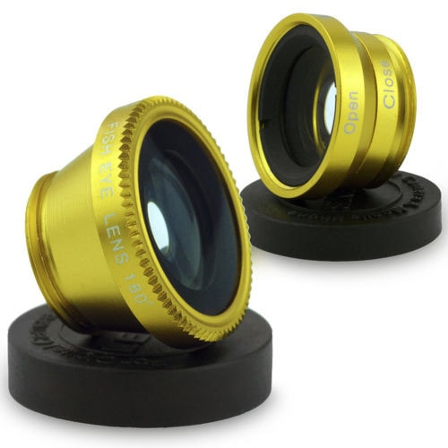 3 in 1 Fish Eye Wide Angle Micro Camera Lens For iPhone 6s 6 plus 5 5S Galaxy LG