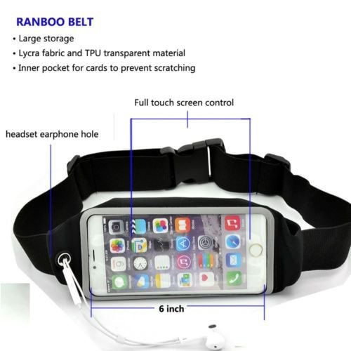Sports Fitness Running Jogging Waist Belt Wallet Key Fanny Bag For Apple iPhone