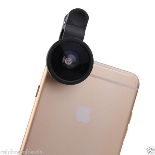 Universal 0.4X Super Wide Angle Conversion Selfie Lens iPhone HTC Samsung LG