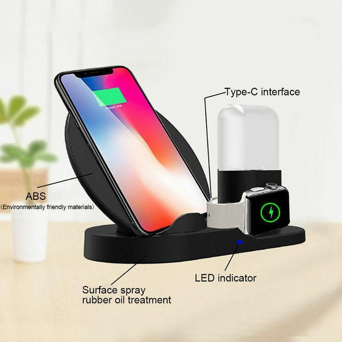 DELUX 3-in-1  Wireless Charger for iPhone, Apple Watch &  AirPods