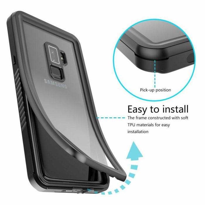 Galaxy S8 Plus Waterproof Case Cover with Built-in Screen Protector
