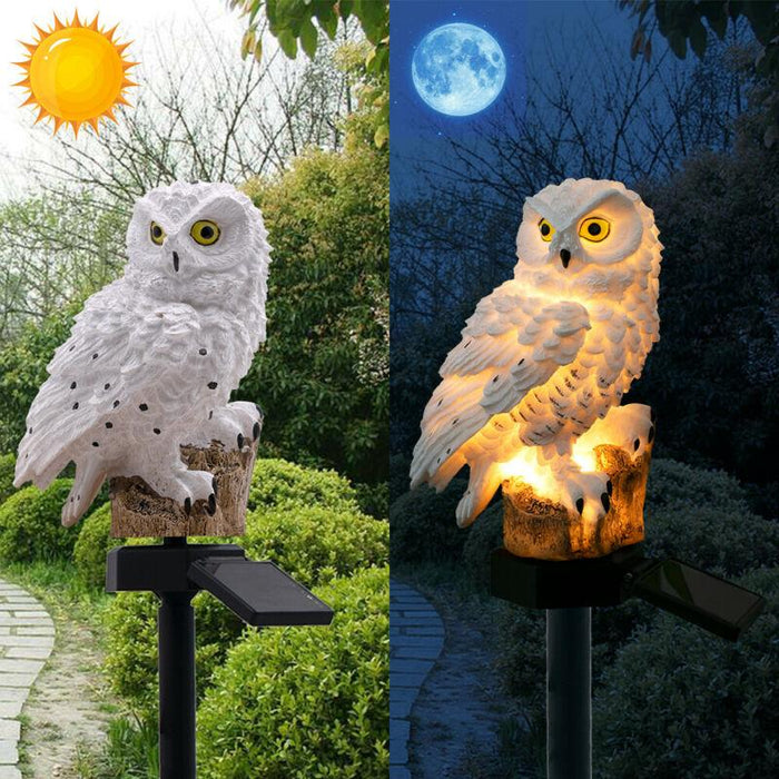 New Garden Owl Solar-Powered Lawn Lamp