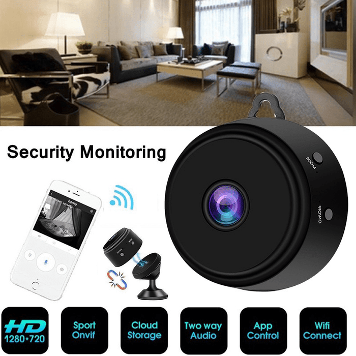 Mini Wireless Wifi IP Security Camera HD 1080P with Night Vision