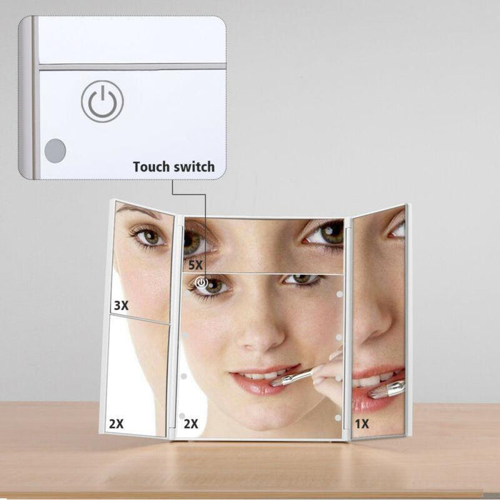 LED Touch Screen Lighted Makeup Mirror
