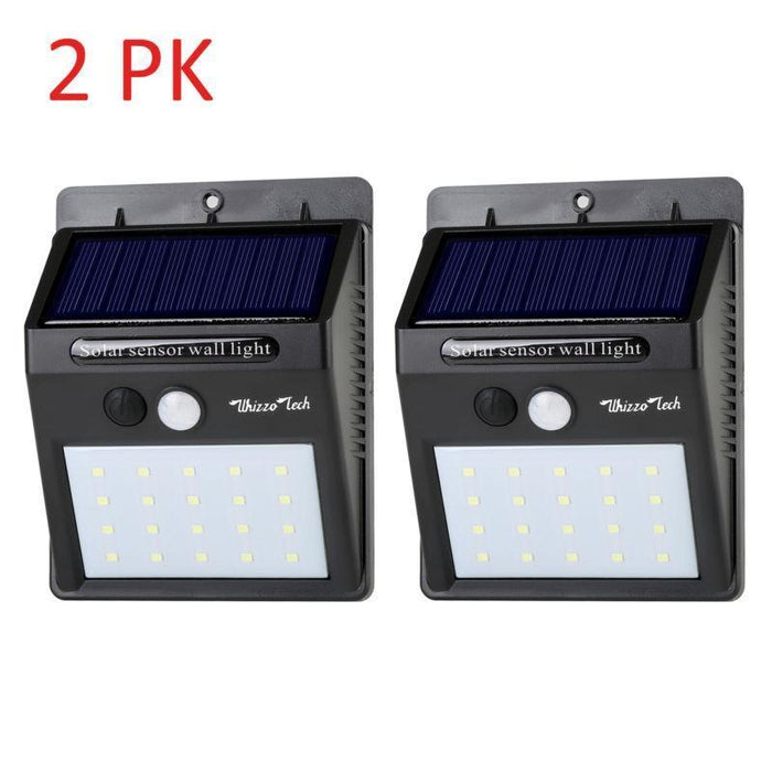 SolarMax - 20 LED  Motion Sensor Solar Wall Light - Waterproof Garden/Yard Lamp