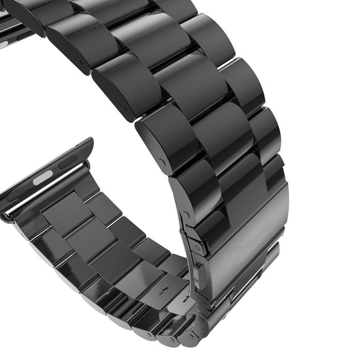 Stainless Steel Band with Clasp for Apple Watch - Black