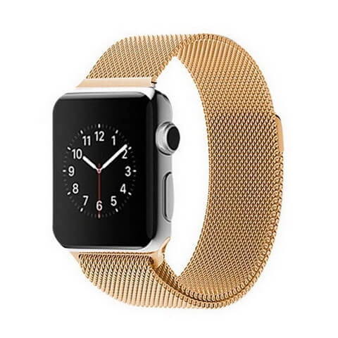 Apple Watch Band, Milanese Magnetic Loop Stainless Steel - Gold