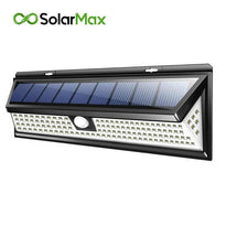 SolarMax - 1000 Lumens Solar Powered Wall Light with Motion Sensor - 118LED