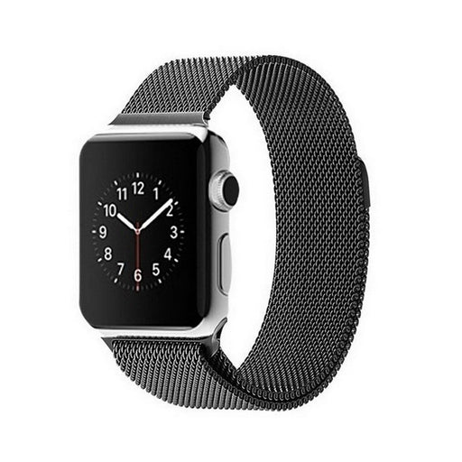 Apple Watch Band, Milanese Magnetic Loop Stainless Steel  - Black