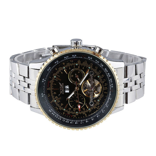 Luxury Mens Tourbillon Chronograph Stainless Steel Watch