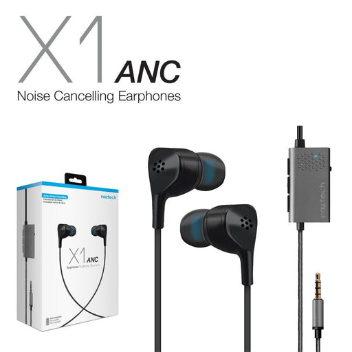 Naztech X1 Active Noise Cancelling Earphones -Wired