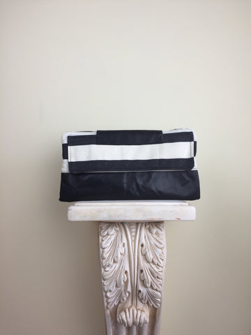 Black and White Leather Clutch