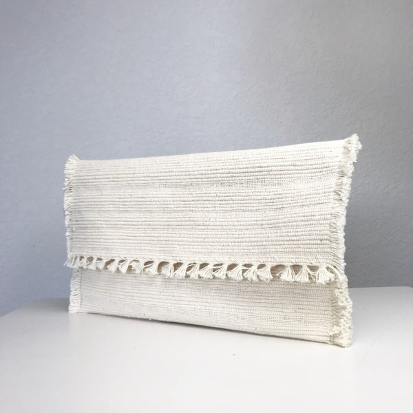 Upcycled Fringe Clutch