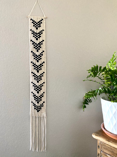 Vertical Geometric Wall Hanging