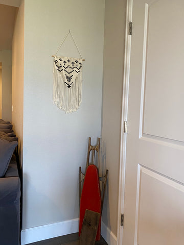 Simple Macrame Detail Wall Hanging