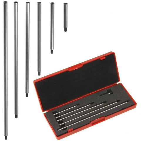 "Dial/Digital Indicator Extension Stem Rod Set 6 piece 1"", 2"", 3"", 4"", 5"", 6"" Combine to 0-21"""