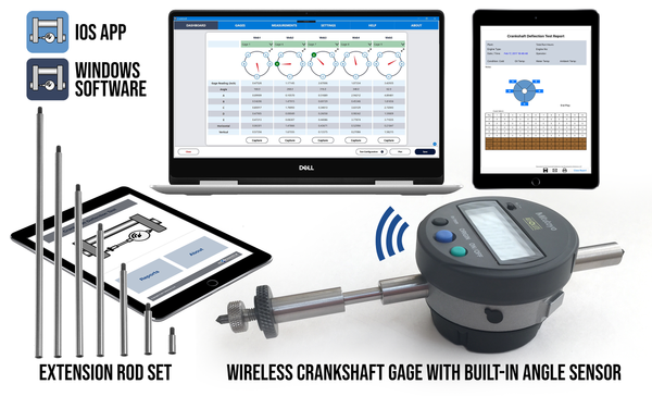 Wireless Crankshaft Deflection Test Kit