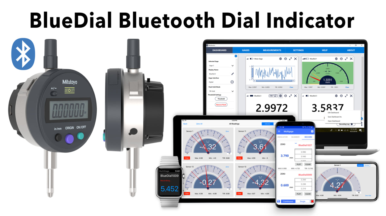 BlueDial Bluetooth Dial Indicator