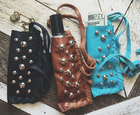 Leather Stash Pouches